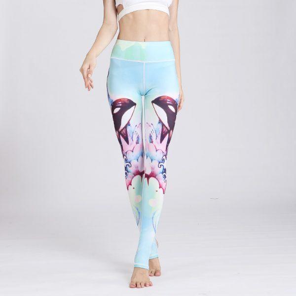 turquoise yoga legging submarine design