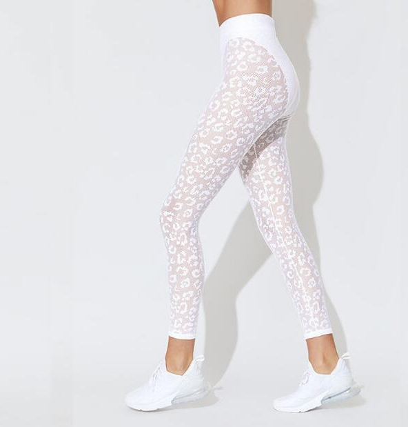 leopard yoga set white legging