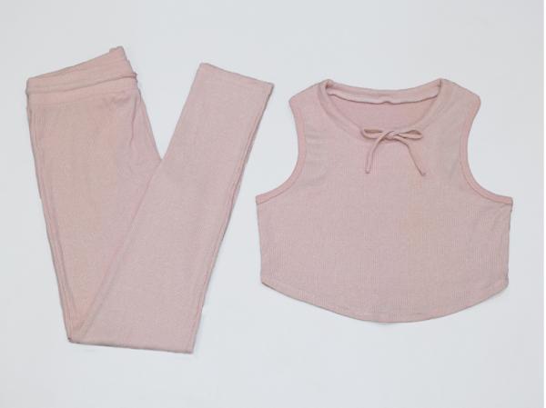 comfortable yoga set women pink