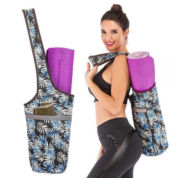 yoga mattress bag black